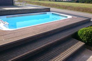 spa de nage, mini piscine extérieur