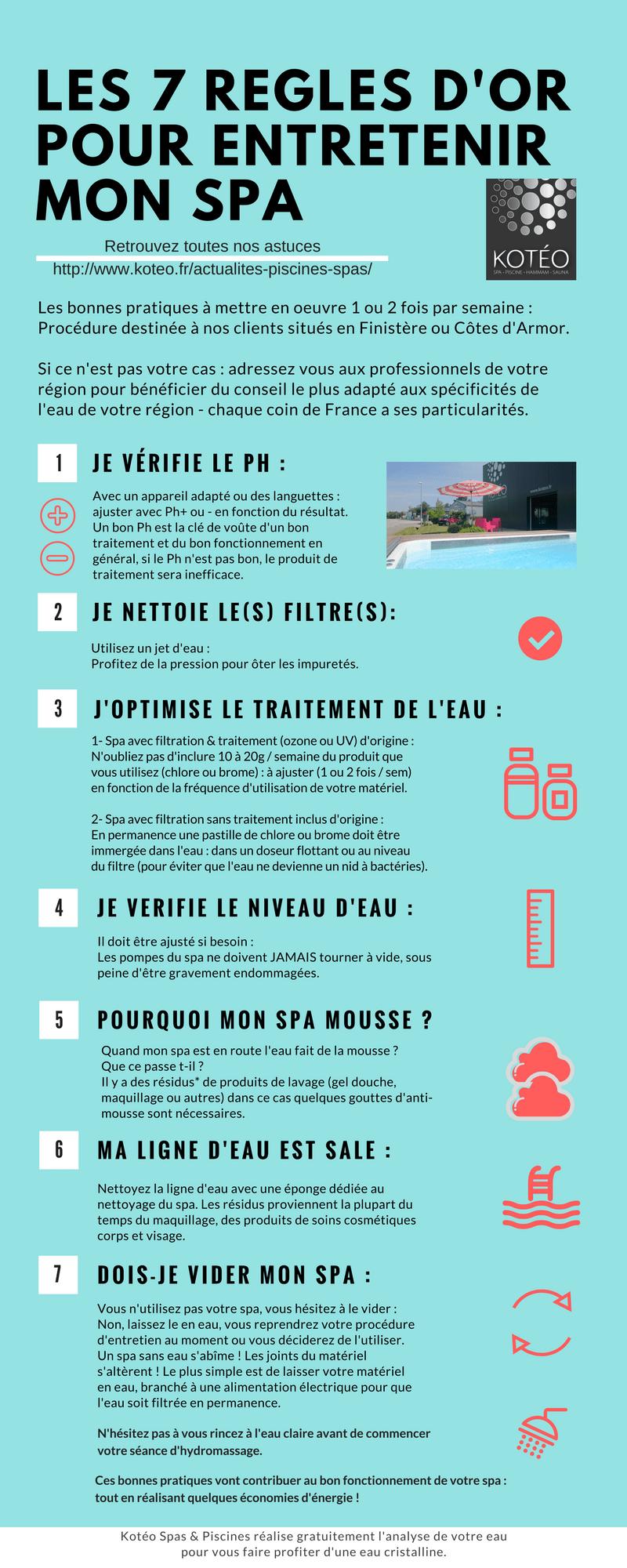 7 Regles D Or Pour L Entretien De Votre Spa Jacuzzi Koteo Morlaix