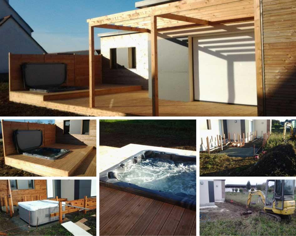 Baie De Morlaix : Création Terrasse Avec Spa Wayfarer D1